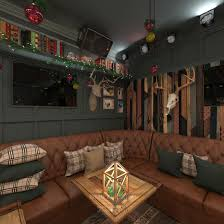 karaoke bar interior design in the restaurant eshak of sergey