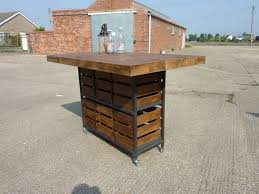 industrial rustic pine kitchen island breakfast bar table with zoom