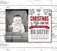 big sister big brother christmas card new baby pregnancy