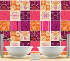 Tile Decals For Kitchen Backsplash Kitchen Splashback Indian Patchwork Tiles Stickers Tiles