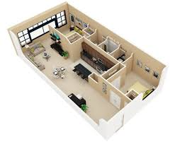 Two Bedroom House Designs Bedroom Industrial Loft Style Two Bedroom Apartmenthouse Plans