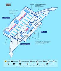Map Of Chicago Airport Chicago Airport Map Facility Information Ana