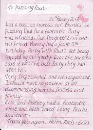 thank you note to parents