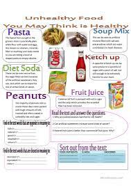 43 free esl healthy food worksheets