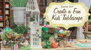 Handmade Easter Table Decorations by Diy Easter Table How To Keep Little Ones Entertained Hm Etc