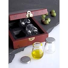 bicchieri degustazione olio miglior prezzo cofanetto degustazione olio vetro inox set 4 pz