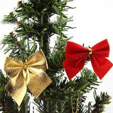 bag gold bow flannel tree hanging ornaments