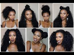 partial sew in hairstyles for synthetic hair 7 styles 1 wig outre peruvian bundle half wig review youtube