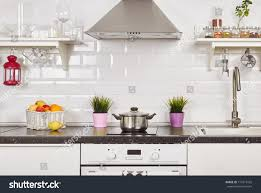 home interior decoration items interior light kitchen apartment bright home stock photo 714377425