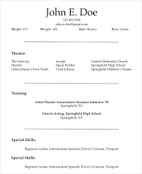 Sample Acting Resume For Beginners by Actor Resume Example 7 Free Word Pdf Documents Download Free