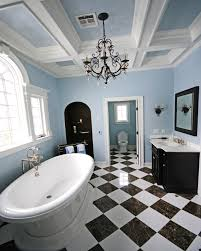 How To Modernize Your Home by Bathroom Ideas Bathroom Chandeliers With Black And White Tiles