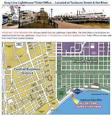 New Orleans Convention Center Map by New Orleans Native Tours