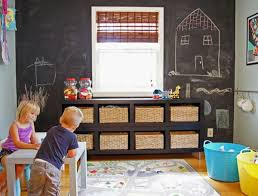 rangements chambre enfant design interieur chambre enfant peinture ardoise panier rangement