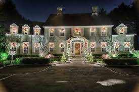 christmas spotlights christmas decor light installation