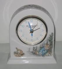 wedgwood rabbit wedgwood beatrix potter rabbit alarm clock 5 inches