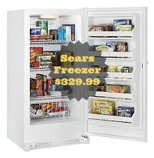 black friday freezer deals sears freezer sale 13 7 cu ft upright freezer for 329 99