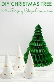 diy christmas tree luminaries air drying clay diy christmas