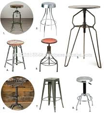 Industrial Metal Bar Stool Stools Vintage Metal Industrial Chairs Industrial Metal Bar