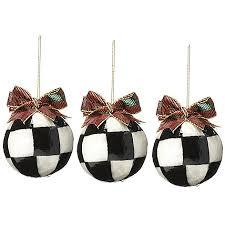 mackenzie childs set of 3 handmade jester fancy ornaments