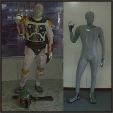boba fett mandalorian armor star wars costume display mannequin