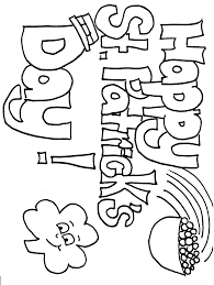 printable shamrock coloring pages coloring pages