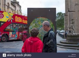Somerset England Map Tourists In Bath Somerset England Uk Look At A Map Of The Spa