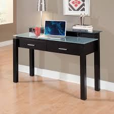modern glass work desk 78 most cool black glass desk modern office computer with hutch