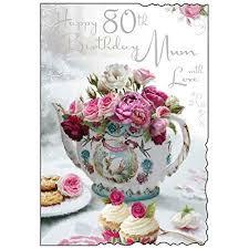 personalised 80th birthday invitations hydrangea afternoon tea
