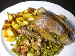 cuisiner les petits pois pigeons petits pois lardons les délices de mimm