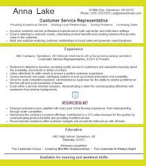 Resume Templates For Customer Service Representatives Customer Service Resume Template Company Resume Objective Best 20