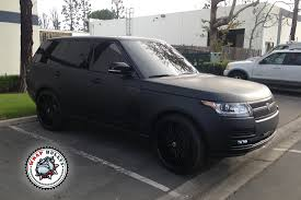 land rover black 2016 range rover autobiography wrapped in 3m deep matte black car wrap