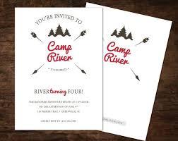 Backyard Birthday Party Invitations Best 25 Camping Invitations Ideas On Pinterest Camping Party