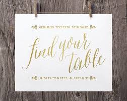 wedding seating signs 8x10 printable wedding signs find your table and take a seat sign