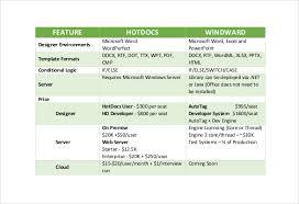 comparison chart template u2013 45 free word excel pdf format