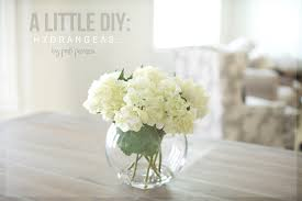 coffee table floral arrangements a little diy peony coffee and hydrangea