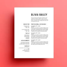 Download Resume Cover Letter Resume Template Cover Letter Instant Download