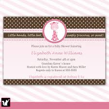 pink and brown baby shower invitations theruntime com