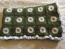 jeter un canapé fabriqué sur commande marguerite au crochet afghan superbe
