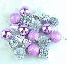 20pcs purple balls navidad new year plastic