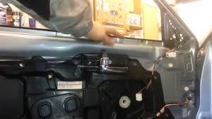 garage door window replacement parts how to change replace front door window mazda 6 2005 youtube