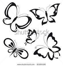 set butterflies stock vector 199081337