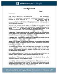 create a loan agreement legal templates