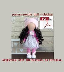 home decoration pdf textile doll tutorial pdf digital pattern sewing patterns