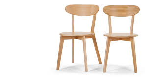 Made Dining Chairs Set Of 2 Dining Chairs In Oak Fjord Made