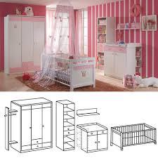 Schlafzimmer Cinderella Komplett Babyzimmer Cinderella 6tlg Set Alpinweiß Rosé Wimex Möbel