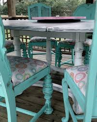 Teal Dining Table Dining Table Repurpose Into Client S Gazebo Mediterranean