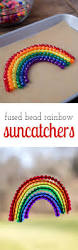 fused bead rainbow suncatchers