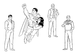 batman spiderman superman coloring page superman comic free