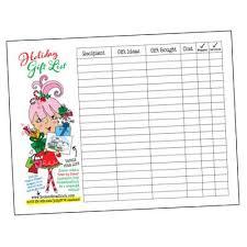 gift list printable gift list pdf