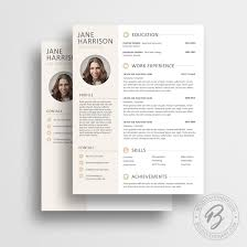 Curriculum Vitae Template Word Modern Resume Template 05 With Matching Cover Letter Modern Cv